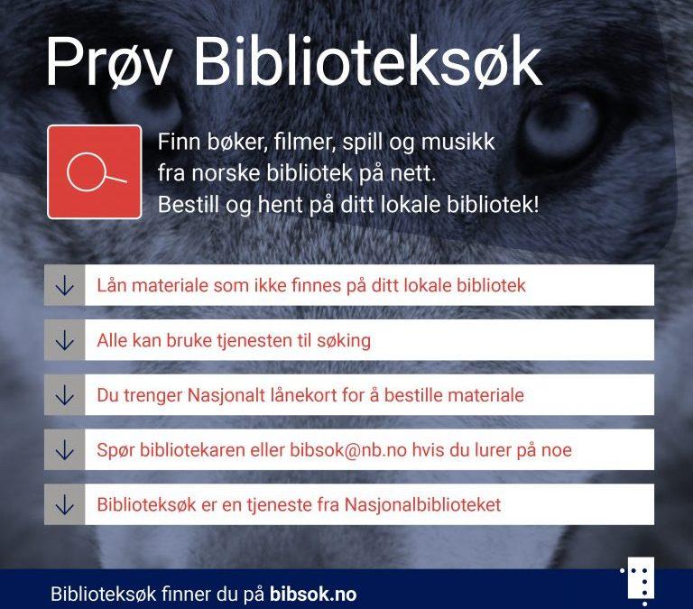 Prøv Biblioteksøk – én inngang til alle norske bibliotek