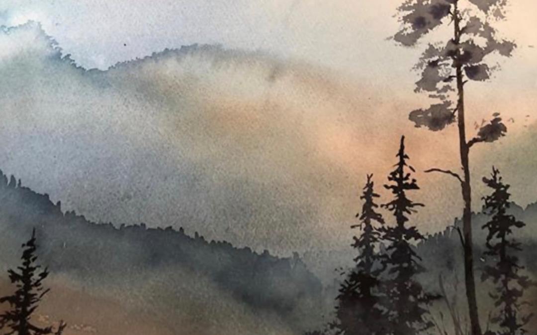 Kjellfrid Berg stiller ut akvareller i november