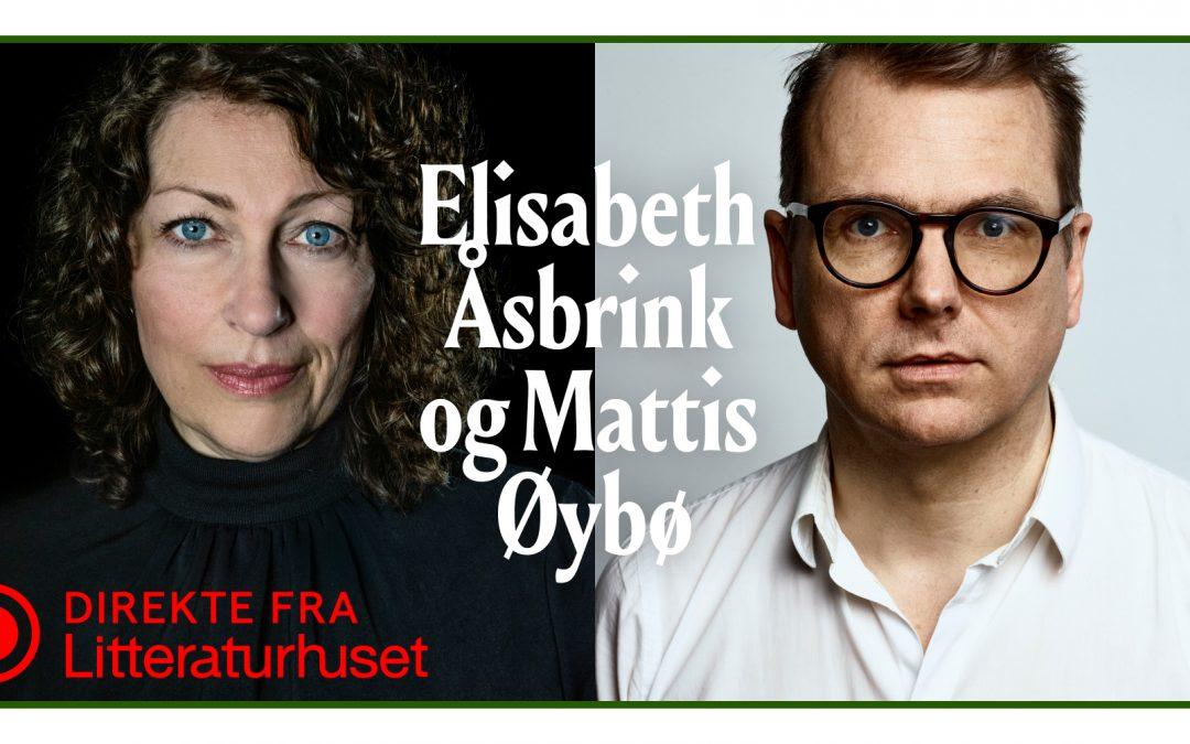 Mattis Øybø og den svenske Augustpris-vinneren Elisabeth Åsbrink i samtale med Guri Hjeltnes