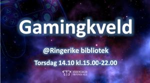 Gamingkveld @ Ringerike bibliotek